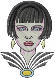 Art Deco Woman embroidery design