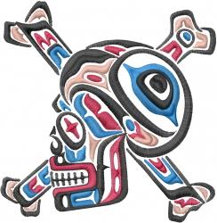 Skull embroidery design
