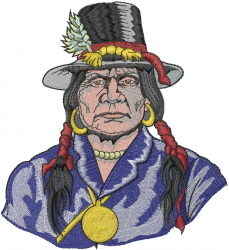 Native American Indian embroidery design