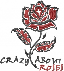 Crazy About Roses embroidery design