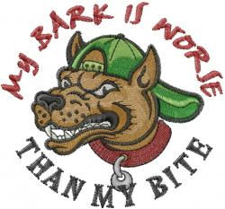 My Bark embroidery design