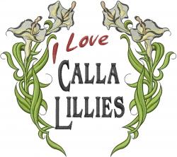 Calla Lilies embroidery design