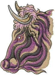 Bull Profile embroidery design