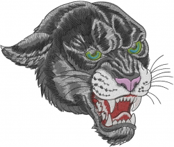 Angry Panther embroidery design