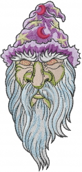 Angry Wizard embroidery design