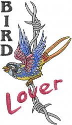 Bird Lover embroidery design