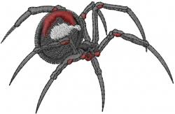 Black Widow Spider embroidery design
