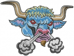 Mad Bull embroidery design