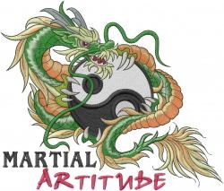 Martial Artitude embroidery design