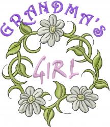 Grandmas Girl embroidery design
