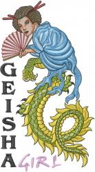 Geisha Girl embroidery design