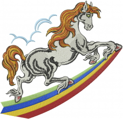 Horse  Rainbow embroidery design