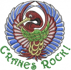 Cranes Rock embroidery design