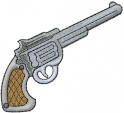 Pistol Gun embroidery design