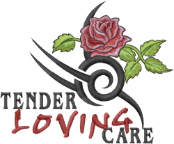 Tender Loving Care embroidery design