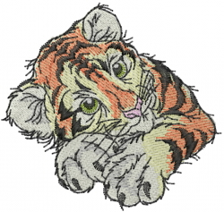 Tiger Kitten embroidery design