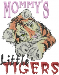Mommys Litte Tigers embroidery design