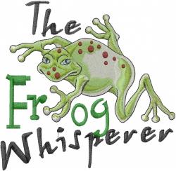 The Frog Whisperer embroidery design