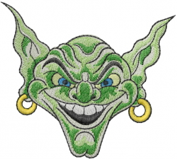 Troll Face embroidery design
