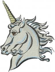 Unicorn Profile embroidery design