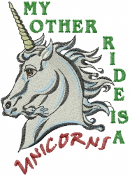 My Other Ride embroidery design