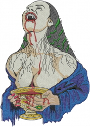 Witch Vampire embroidery design