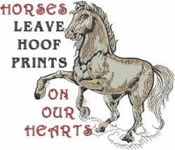 Hoof Prints embroidery design