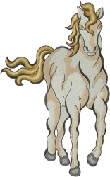 Horse Trott embroidery design