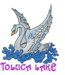 Toluca Lake embroidery design
