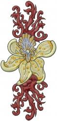 Decorative Lily embroidery design