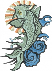 Koi Fish embroidery design