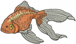 Gold Fish embroidery design