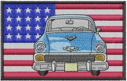 American Classic Car embroidery design