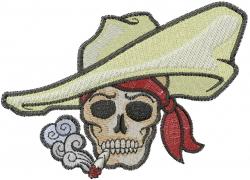Bandito Skull embroidery design
