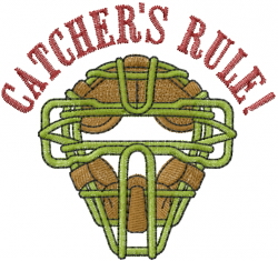 Catchers Rule embroidery design
