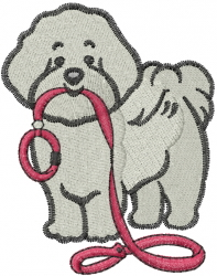 Bichon embroidery design
