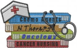 Cancer Nursing embroidery design
