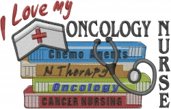Oncology Nurse embroidery design