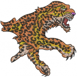Cheetah embroidery design