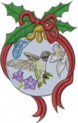 Hummingbird Ornament embroidery design