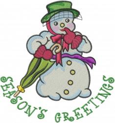 Seasons Greetings embroidery design