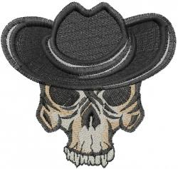 Cowboy Skeleton embroidery design
