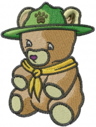 Cub Scout Teddy embroidery design