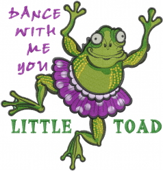 Little Toad embroidery design