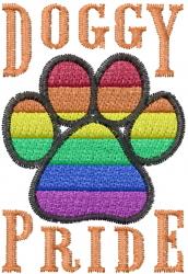 Doggy Pride embroidery design