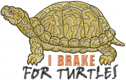 Brake For Turtles embroidery design