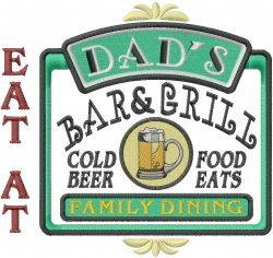 Eat At Dads embroidery design