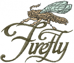 Firefly embroidery design