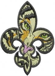 Fleur Di Tiger embroidery design