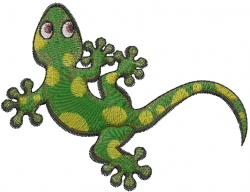 Green Gecko embroidery design